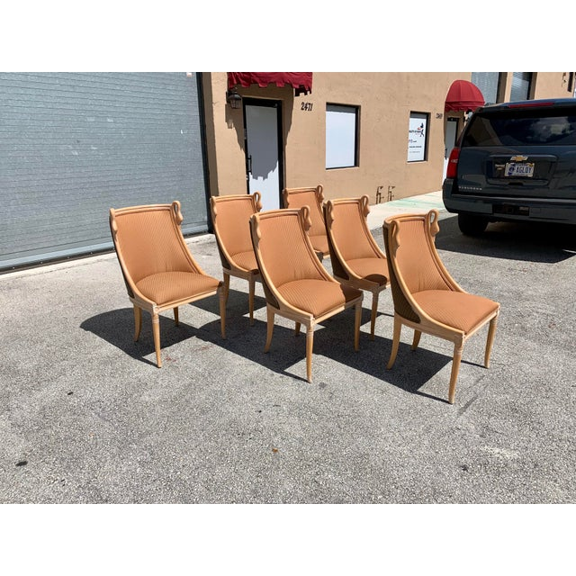 """Mid-Century Modern """"Gondola"""" Swan Neck Dining Chairs - Set of 6 For Sale - Image 4 of 13"""