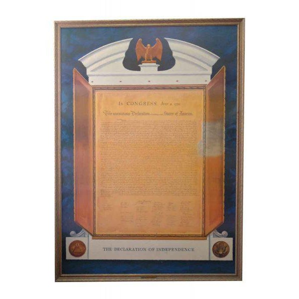Commemorative Declaration of Independence Lithograph | Chairish