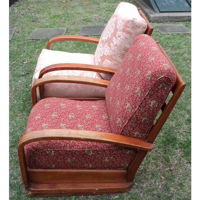 Mid-Century Club Chairs - A Pair - Image 3 of 11