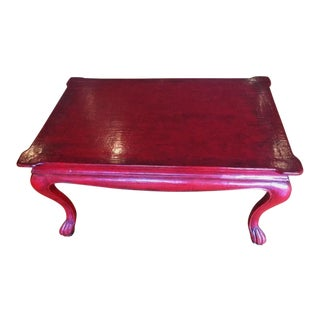 Chinoiserie Sang De Boeuf Crackle Lacquer Table