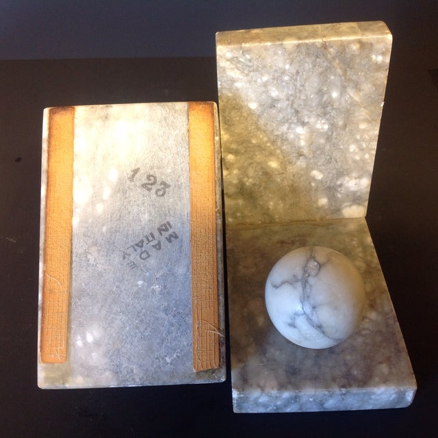 Italian Minimalist Marble Bookends - A Pair - Image 3 of 5