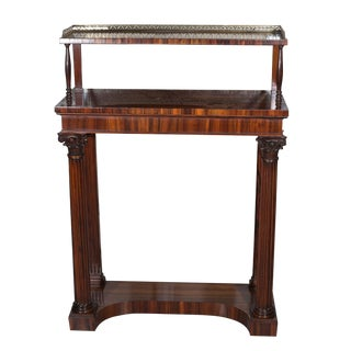 Early 19th Century Vintage English Rosewood William IV Side Cabinet For Sale