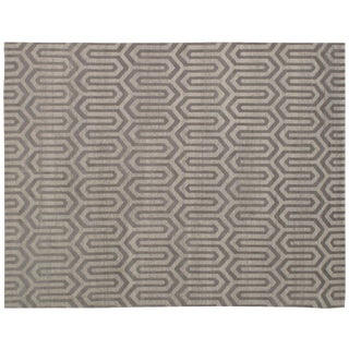 Stark Studio Rugs Contemporary New Oriental Tibetan 75% Wool/25% Silk - 8′ × 10′3″ For Sale
