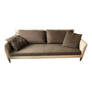 Modern Italian Brown Sofa For Sale