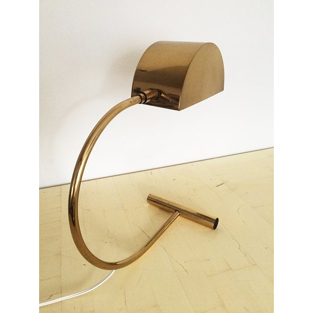 Koch and Lowy Brass Demilune Table Lamp - Image 8 of 11