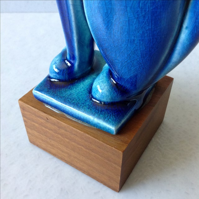 Royal Haeger Mid Century Modern Blue Cat - Image 11 of 11