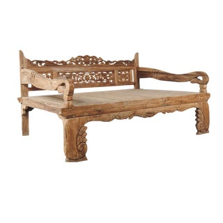 Bali Carved Daybed Full For Sale