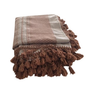 Brown Mexican Tassel Blanket/Throw