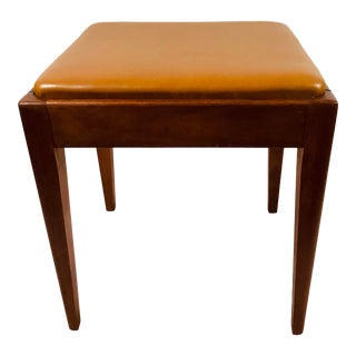 Mid Century Wooden Stool For Sale