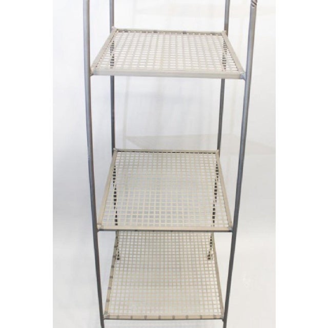 Triple-Tiered Black Wrought Iron Stand For Sale - Image 5 of 6