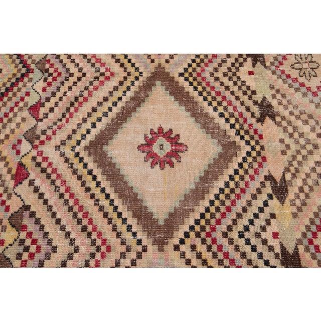 Textile Vintage Turkish Scatter Wool Rug 4 X 7 For Sale - Image 7 of 13