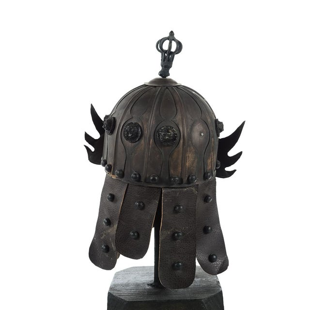 Chinese Bronze Warrior Helmet For Sale In Los Angeles - Image 6 of 9