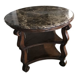 Super Close Out Sale !! 20th Century Wood and Stone Three-Tiered Coffee Table For Sale