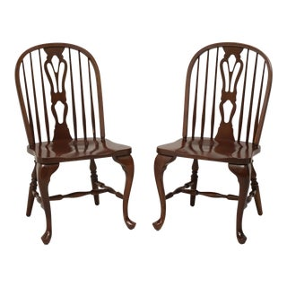 Solid Cherry Windsor Side Chairs by Cochrane For Sale