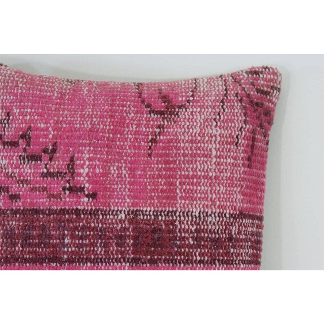 Pink Handmade Over-Dyed Rug Pillows - Pair - Image 2 of 3
