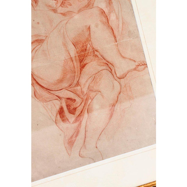 18th Century Continental Red Chalk Drawing, Figure Study For Sale - Image 4 of 11