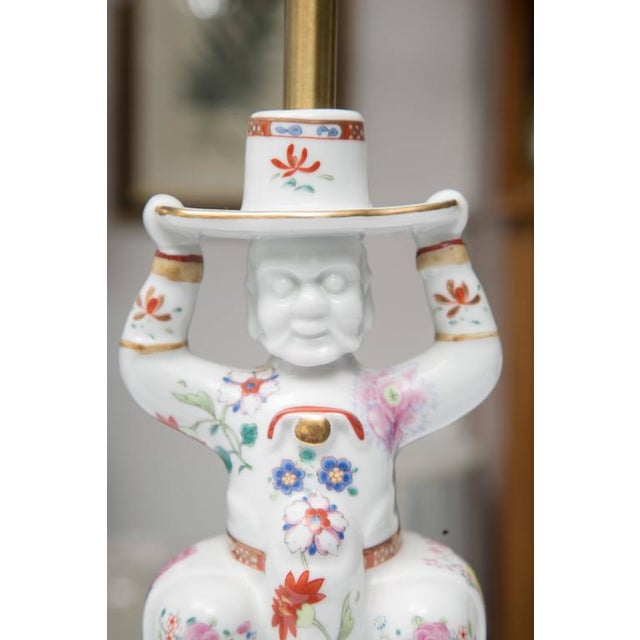 1970s Chinese Warrior as a Table Lamp For Sale - Image 5 of 9
