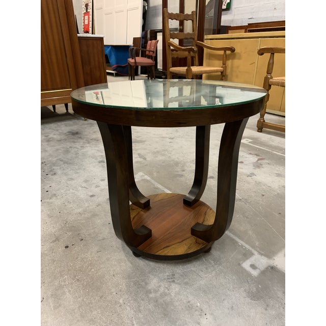 1940s Vintage French Art Deco ''Tulip'' Macassar Coffee Table or Side Table For Sale - Image 9 of 13