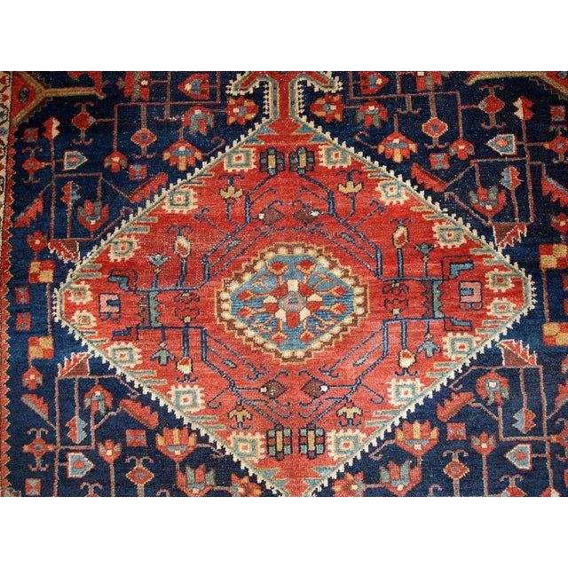 1920s Handmnade Antique Persian Malayer Rug - 4.10' X 7.3' For Sale In New York - Image 6 of 8