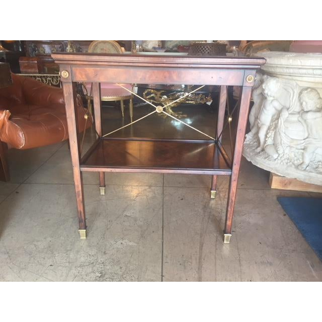 Traditional Drinks Cart Tea Table With Removable Tray Top For Sale - Image 3 of 9