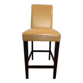 Textured Leather Valencia Barstool For Sale