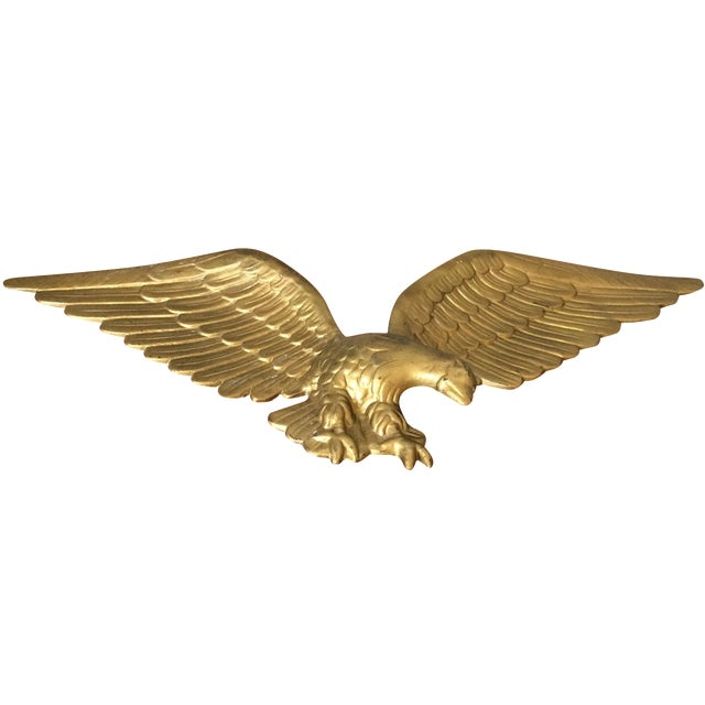 Vintage Gold Metal Eagle - Image 1 of 9