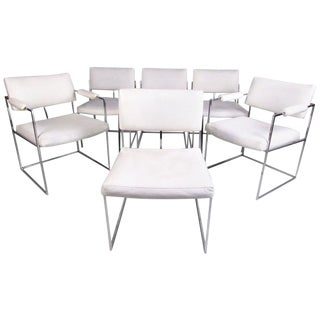 Milo Baughman Style Modern Dining Chairs - Set of 6