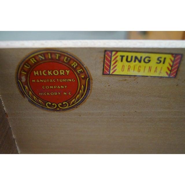 Tung Si Collection Ebonized Black & Teak Dresser - Image 8 of 10