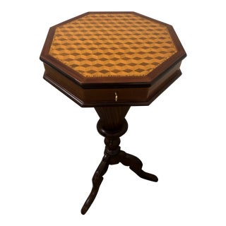 Victorian Inlaid Side Table For Sale