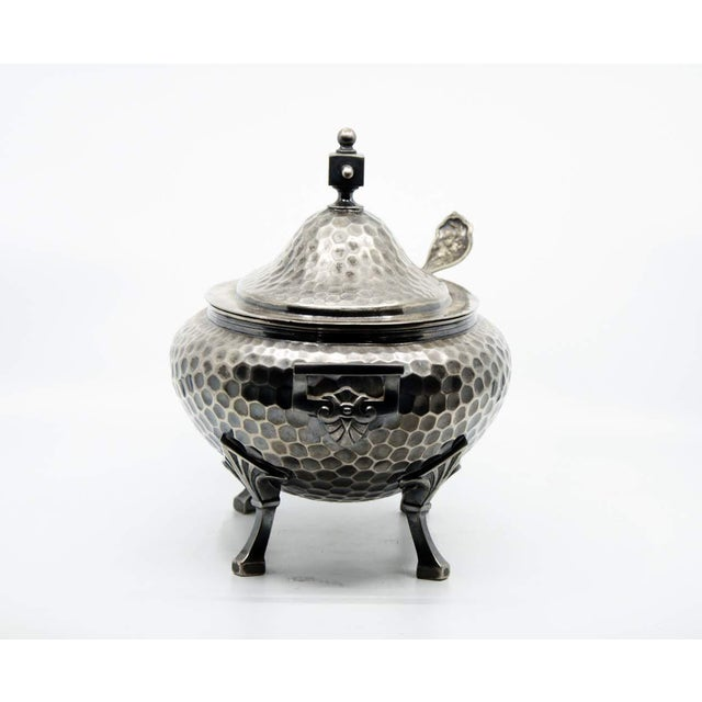 Meriden Silver Plate Co. 19th C. Meriden B. Company Silver Plated Soup Tureen and Spoon - a Pair For Sale - Image 4 of 13