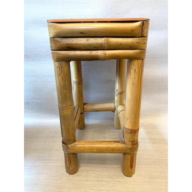 Traditional Bamboo Drinks Side Table or Plants Stand For Sale - Image 3 of 5