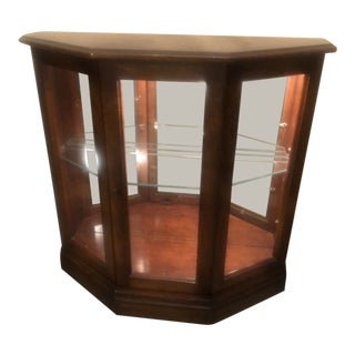 1980s Mid-Century Modern MasterCraft Vitrine Table with Light For Sale