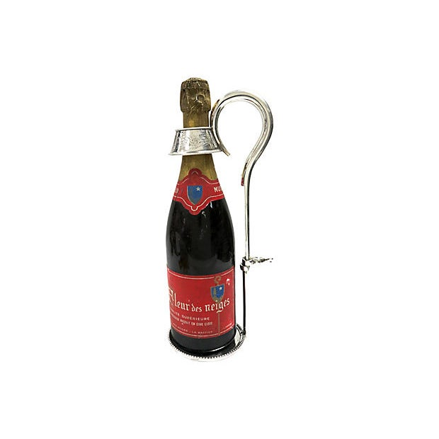 Antique English Silver-Plate Wine Bottle Pourer For Sale - Image 4 of 4