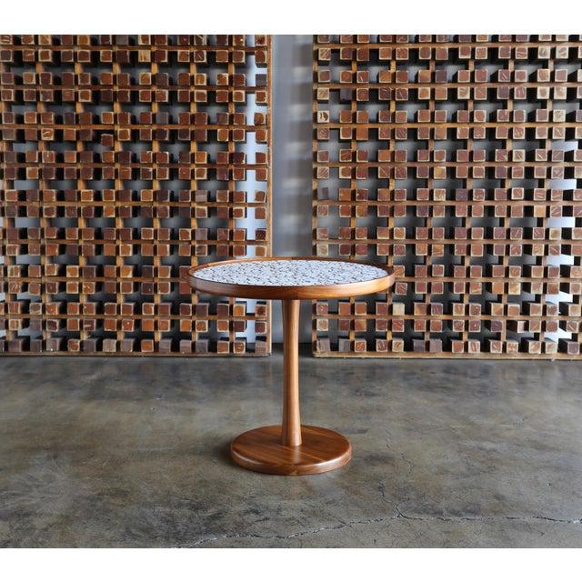 Gordon Martz Ceramic Tile-Top Occasional Table, Circa 1960 For Sale - Image 10 of 11