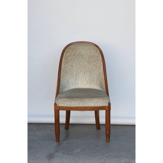 Textile Chic French Art Deco Bergère in the Style of Émile-Jacques Ruhlmann For Sale - Image 7 of 7
