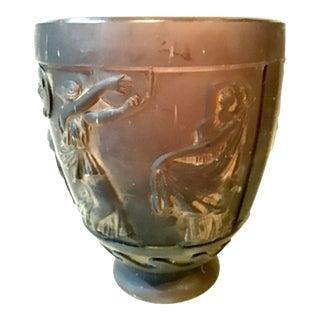 George's De Fuere Pate De Verre Amethyst Art Glass Vase For Sale