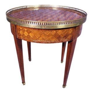 Antique French Bouillotte Parquetry Table For Sale