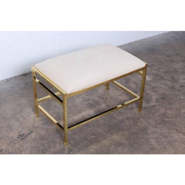 Animal Skin Bass Bench and Table by Edward Wormley for Dunbar For Sale - Image 7 of 10