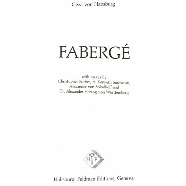 Refresh your coffee table with Faberge by Geza von Habsburg. Geneva: Habsburg, Feldman Editions, 1987. 359 pages....
