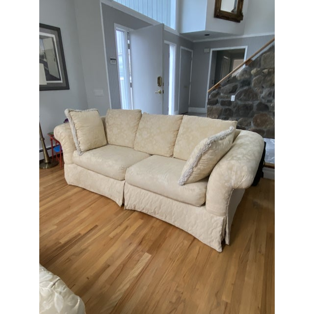 1980s Traditional Rolled Arm Sofa and Loveseat - A Pair For Sale - Image 10 of 13