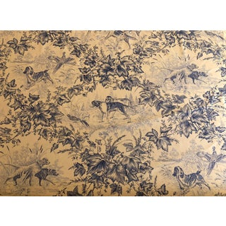 """Brunschwig & Fils """"On Point"""" Blue Fabric - 31 Yards For Sale"""