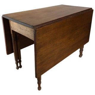 Country Federal Style Drop Leaf Table For Sale