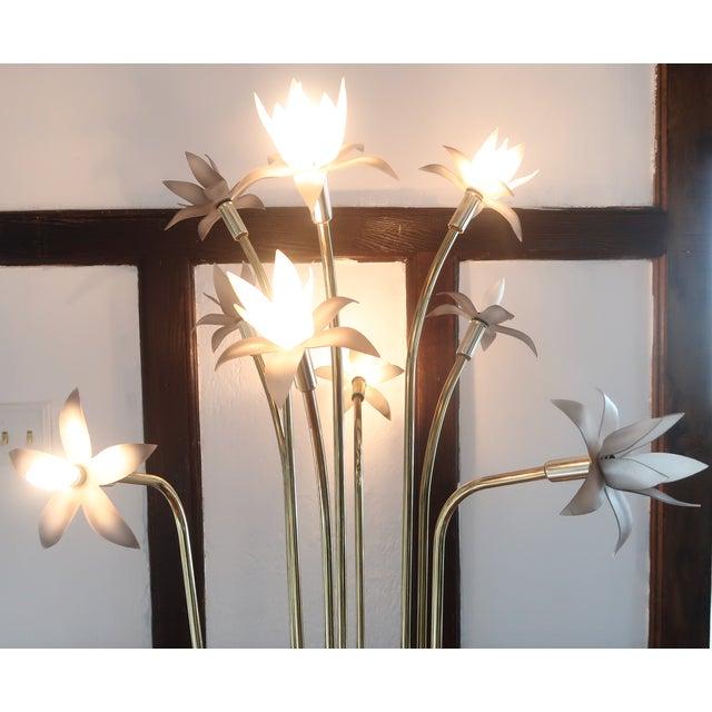 Mid-Century Modern Vintage Mid-Century Modern Lotus Floor Lamp For Sale - Image 3 of 10