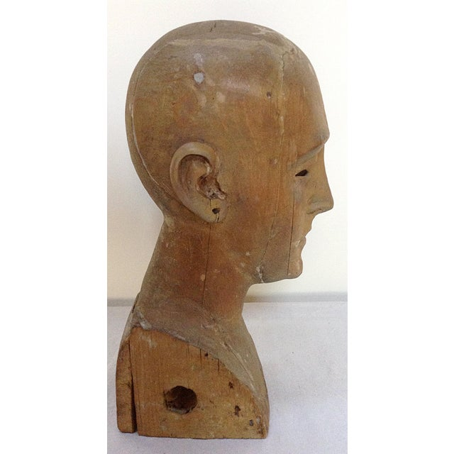 Antique Hand Carved Head - Image 3 of 6