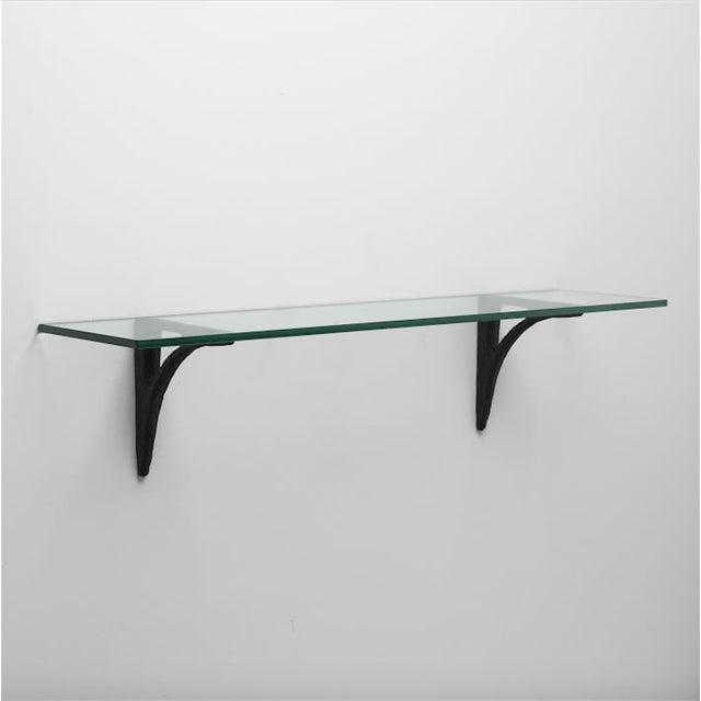 Modern Cast Iron Black Shelf Brackets - Set of 6 - Image 8 of 11