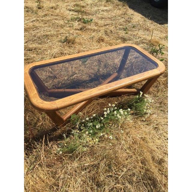 Smoked Glass & Oak Coffee Table - Image 3 of 3