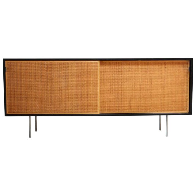 Early Florence Knoll Ebonized Credenza - Image 1 of 10