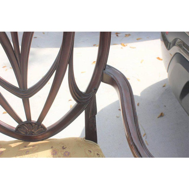 19th Century French Solid Mahogany Chairs- a Pair For Sale - Image 12 of 13