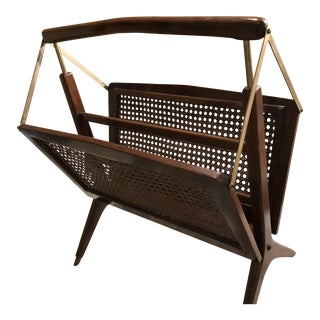 1950s Mid-Century Modern Cesare Lacca Collapsable Magazine Rack For Sale