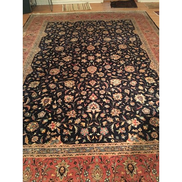 "Vintage Persian Area Rug - 9'x12'7"" - Image 7 of 11"